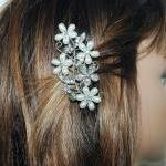 Flower Bridal Wedding Hair Comb - F..
