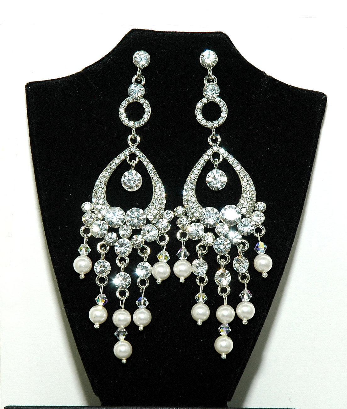 Design450450 Bridal Chandelier Earrings with Pearls Wedding – Vintage Bridal Chandelier Earrings